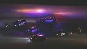 Suspect backs into officer during traffic stop on 91 Freeway in Buena Park, police say