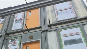 Shipping containers in South Los Angeles becoming homes for the homeless