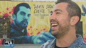 Los Altos teacher honored with mural for creating open mic night to promote the arts