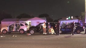 Video: Horrific chain reaction crash in Anaheim leaves 3 hurt, including officer