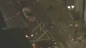 Bicyclist nearly gets hit by a pursuit suspect