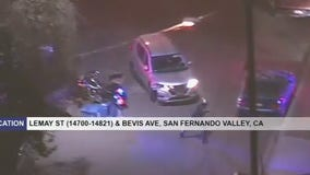 Suspect leads CHP on a pursuit to Van Nuys, hits multiple vehicles