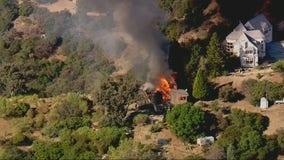House fire ignites near Topanga State Park