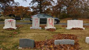 Michigan cemetery vandalized with pro-Trump messages ahead of rally