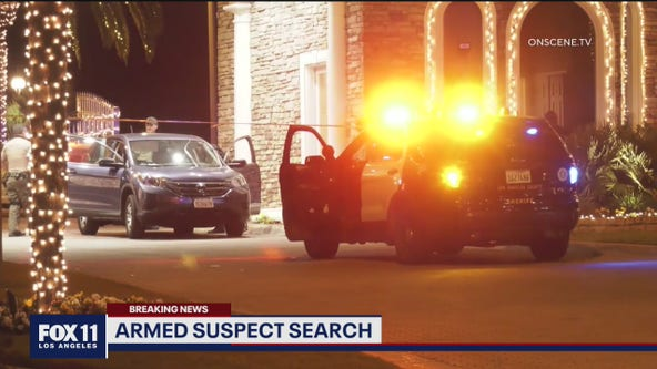 Search underway for allegedly armed domestic violence suspect in Calabasas gated community