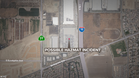 Possible hazmat incident at Eastvale Amazon fulfillment center forces evacuation, 6 taken to hospital