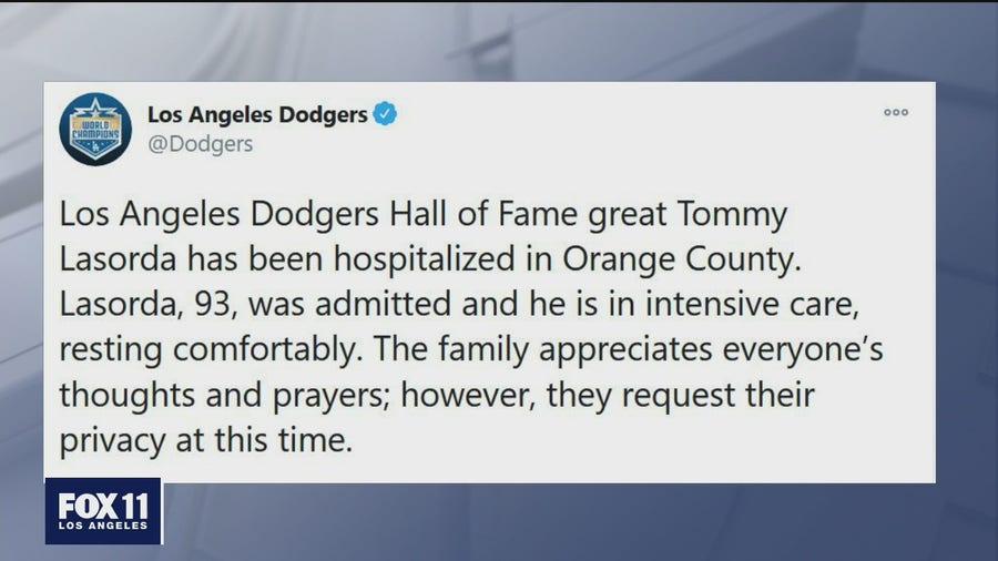 Tommy Lasorda hospitalized
