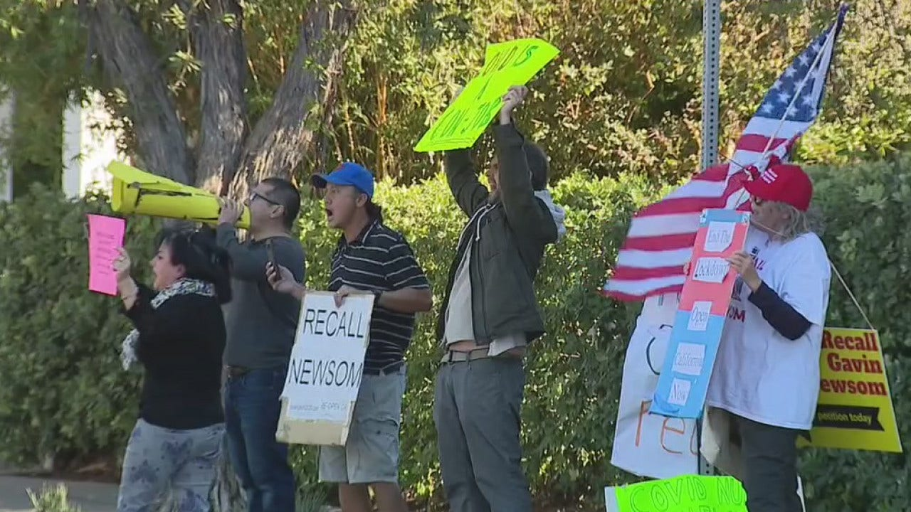 Protest outside of LA Supervisor`s home after FOX...