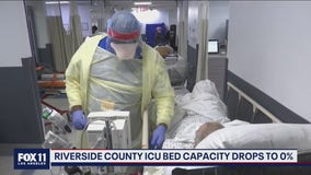 Riverside County ICU bed capacity drops to zero percent