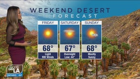 Weekend desert Forecast for January 1-3oo