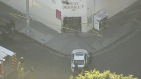 Vehicle crashes into meat market in East Hollywood, 3 people injured