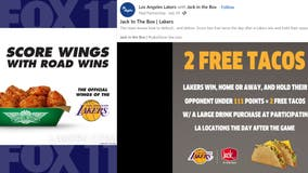 Food deals you can snack on when Lakers win during the 2020-2021 regular season