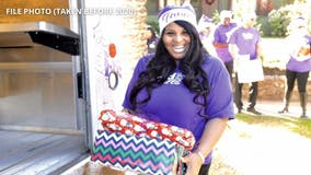 Holiday Heroes: Santa's helper in FedEx purple and a Christmas delivery for adoptive families