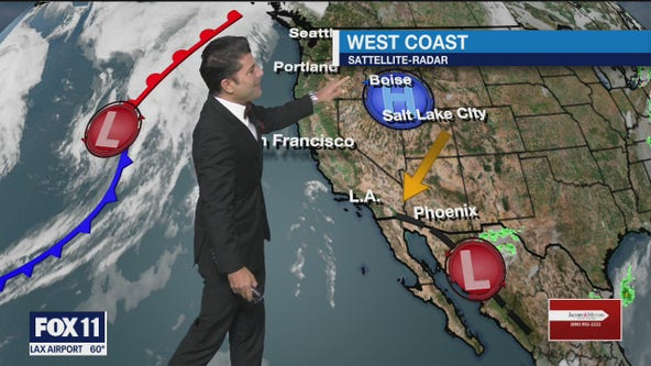 Weather forecast for Friday evening, December 4
