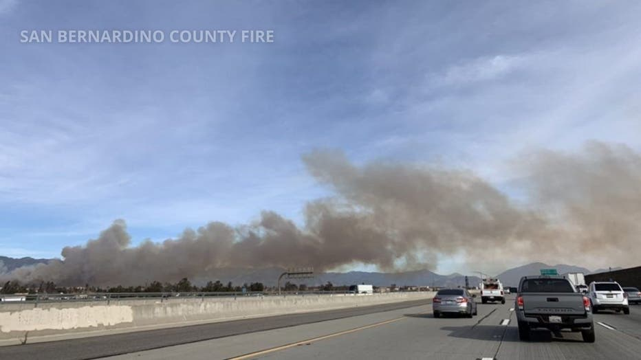 Crews Responding To Brush Fire In Fontana