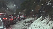 Rain, snow hits SoCal