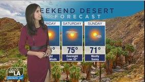 Weekend desert forecast for January 8-10