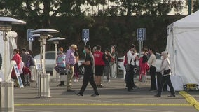 Orange County sees high demand of people wanting vaccine after mega site opens at Disneyland