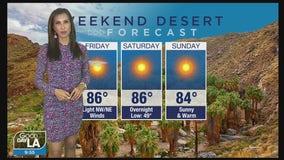 Weekend Desert Forecast for January 15-17