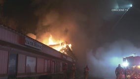 Fire destroys 14 businesses at Moreno Valley strip mall