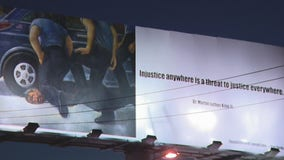 Billboard showing police killing of George Floyd goes up in West Hollywood