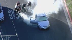 Deputies use fire extinguisher on pursuit vehicle of suspected armed arson suspect