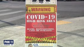 COVID-19 signs placed in high risk areas