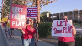 'Let them play' rallies held across California to protest COVID-19 restrictions on youth sports