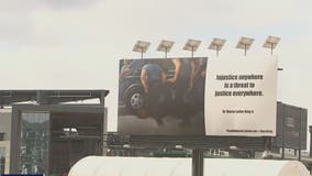 George Floyd billboard in DC issues statement for justice