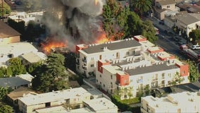 Fire breaks out at vacant home in Hollywood