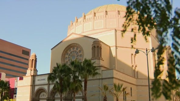 Graffiti on historic Wilshire Boulevard Temple being investigated as hate crime