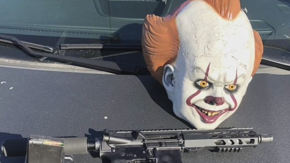 San Leandro police arrest man with clown mask, AR-15 in car