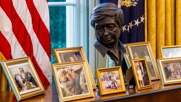 Cesar Chavez bust in Oval Office symbolizing new era for Latinos