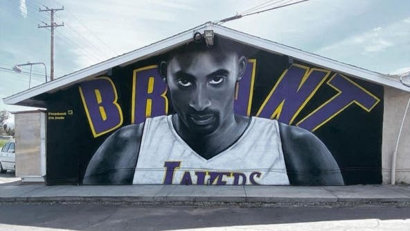 Lake Elsinore artists honor Kobe Bryant's legacy with mural