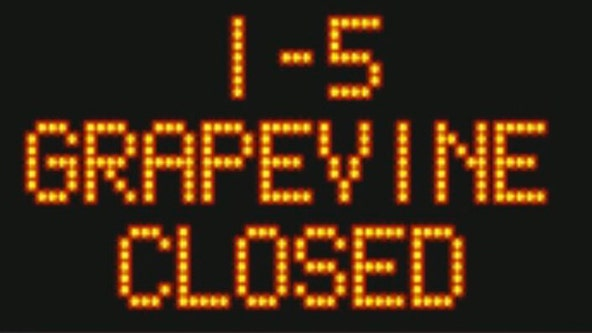 5 Freeway closed in the Grapevine due to snow, Caltrans says