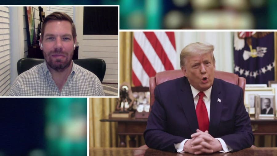 Rep. Swalwell, House impeachment manager, talks ongoing threat posed by Trump and his supporters