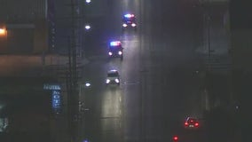 LAPD in pursuit of a possibly armed suspect across South Los Angeles