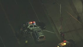 LAPD officer hospitalized after crash near Mid-City