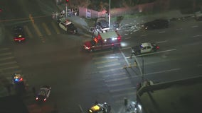 Police officer hit by car in South Los Angeles