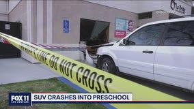 3 kids hurt after vehicle crashes into a preschool in Santa Clarita area