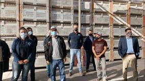 Gov. Newsom visits mobile farmworker vaccination clinic in Coachella Valley
