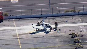 One dead after small aircraft crashes into truck in San Pedro