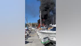 8 boats catch fire following reports of explosion at Dana Point Harbor