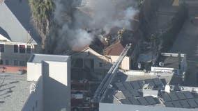Firefighter injured in blaze that spread to 3 buildings in Westlake