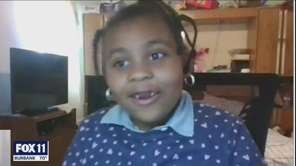 Inglewood first-grader steals the show with poem on Zoom