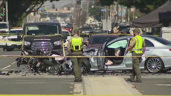 LA County motor deputy killed in traffic collision in Lakewood, sheriff says