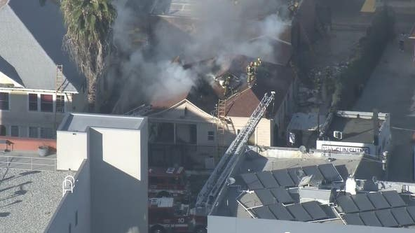 Firefighter injured in blaze that spread to 3 buildings in Westlake