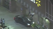 Suspect ditches car in front of Walmart, sprints to store after bizarre chase