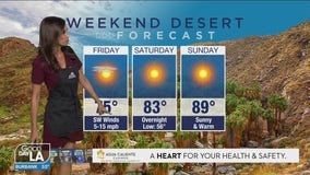 Weekend desert forecast for March 26-28