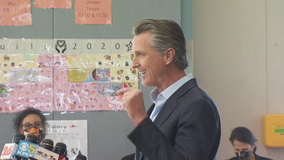 Gov. Newsom visits East Bay elementary school, touting California's reopening efforts